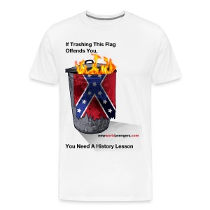 No, YOU Need A History Lesson (with sources on back) - Men's Premium T-Shirt