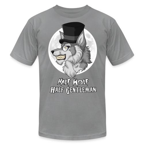 Half Wolf Half Gentleman - Men's T-Shirt by American Apparel - Men's Fine Jersey T-Shirt