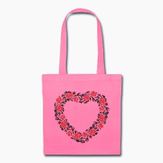 HEART ROSE PATTERN Bags & backpacks