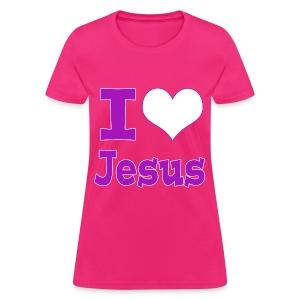 I Heart Jesus - Purple - Women's T-Shirt