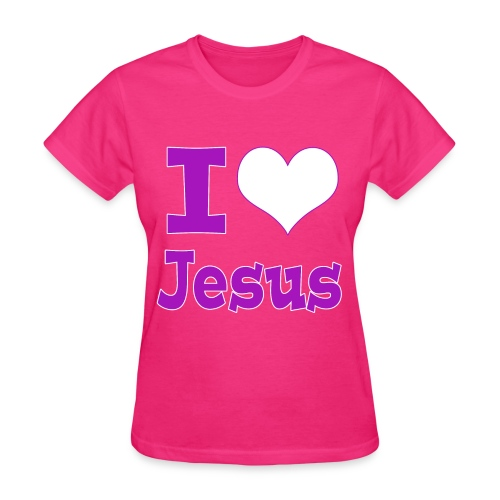 I Heart Jesus - Purple - Women's T-Shirt