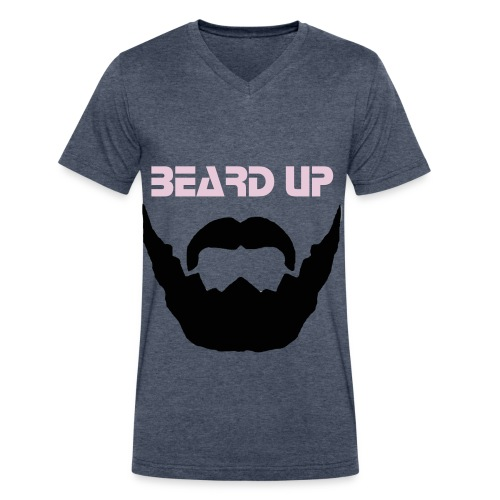 BEARD UP  - Men's V-Neck T-Shirt by Canvas