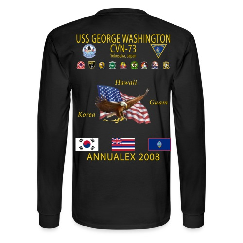USS GEORGE WASHINGTON 2008 CRUISE SHIRT - ANNUALEX 08 - LONG SLEEVE - Men's Long Sleeve T-Shirt