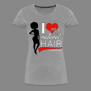 Love Natural Hair (Afro) Premium - Women's Premium T-Shirt