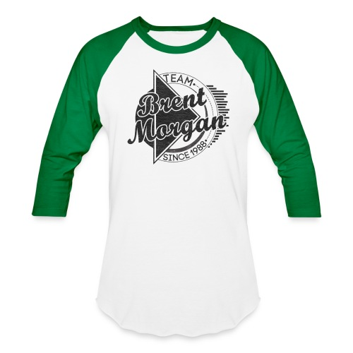 Brent Morgan Baseball T (Green and White) - Baseball T-Shirt