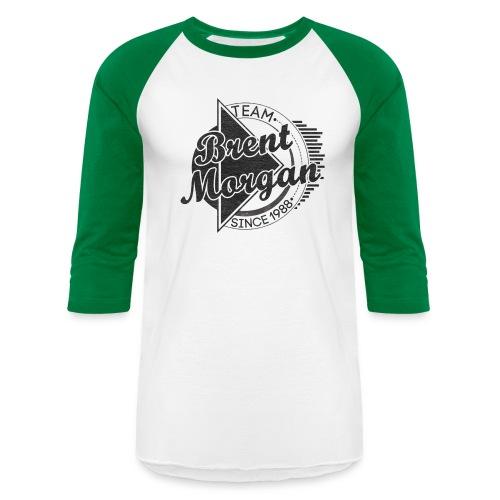 Brent Morgan Baseball T (Green and White) - Baseball T-Shirt