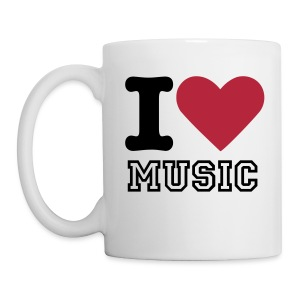 I Love Music - Coffee/Tea Mug - Coffee/Tea Mug