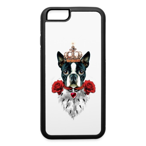 Royalty Boston Terrier iPhone 6/6S Case  - iPhone 6/6s Rubber Case