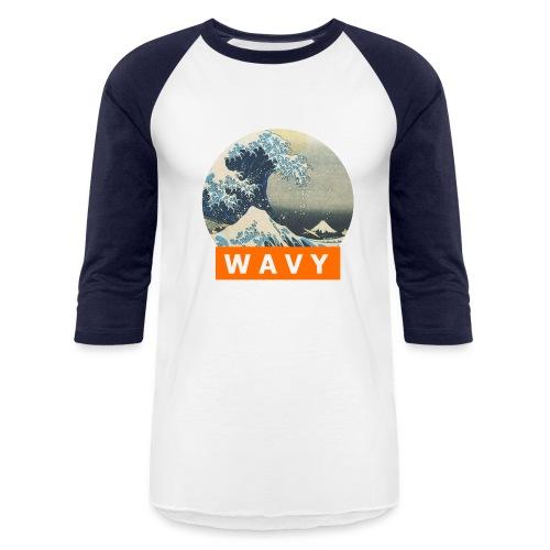 W A V Y Baseball Tee - Baseball T-Shirt