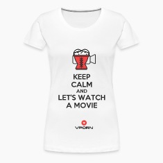 Vporn ' Keep Calm and let's watch a movie' - light