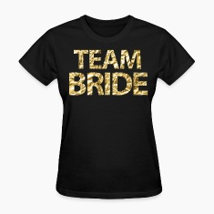 Team Bride Faux Gold Foil For Bachelorette Party