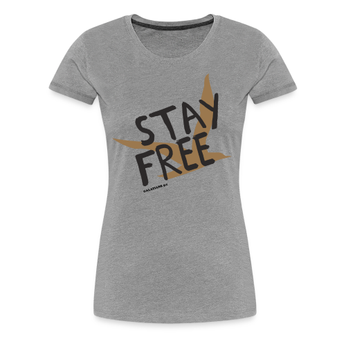 Stay Free Gold Bird Women's T - Women's Premium T-Shirt