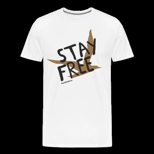 Stay Free Gold Bird Men's T - Men's Premium T-Shirt