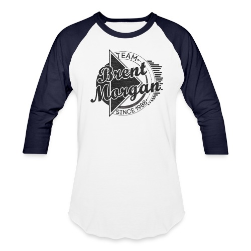 Brent Morgan Baseball T (Navy and White) - Baseball T-Shirt