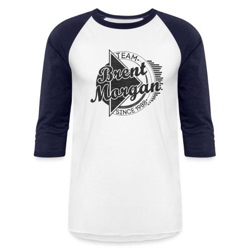 Brent Morgan Baseball T (Navy and White) - Baseball T-Shirt