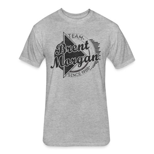 Brent Morgan Premium T-Shirt (Grey) - Fitted Cotton/Poly T-Shirt by Next Level