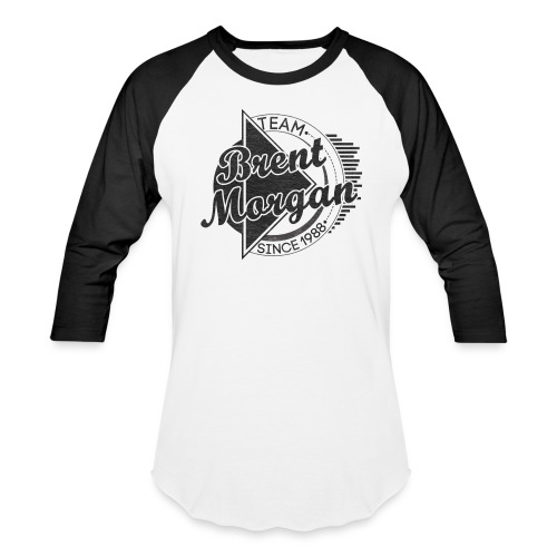 Brent Morgan Baseball T (Black and White) - Baseball T-Shirt