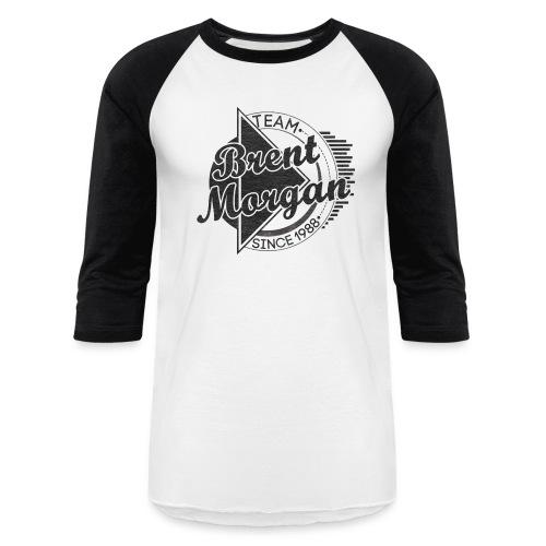 Brent Morgan Baseball T (Black and White) - Baseball T-Shirt