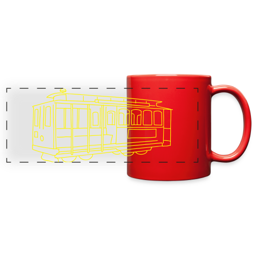 San Francisco Cable Car - Full Color Panoramic Mug
