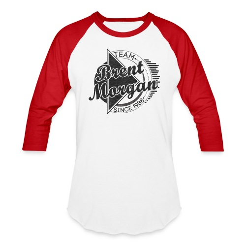 Brent Morgan Baseball T (Red and White) - Baseball T-Shirt