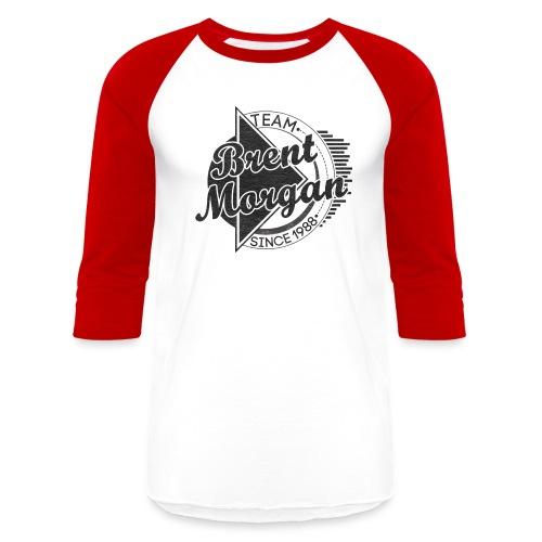 Brent Morgan Baseball T (Red and White) - Baseball T-Shirt