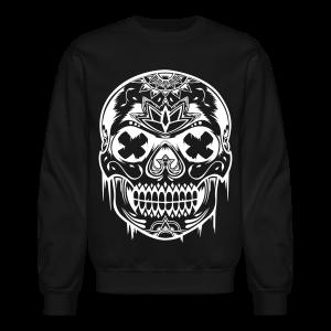 Unisex Sugarskull Sweater - Black - Crewneck Sweatshirt