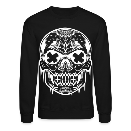 Unisex Sugarskull Sweater - Black - Crewneck Sweatshirt