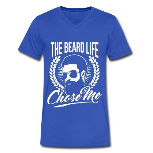 The Beard Life Chose Me - Men's V-Neck T-Shirt by Canvas