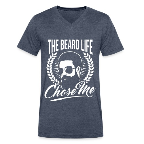 The Beard Life Chose Me - Men's V-Neck T-Shirt by Canvas