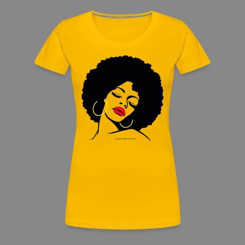 Afro Diva Red Lips (Premium) - Women's Premium T-Shirt