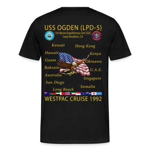 CUSTOM - USS OGDEN LPD-5 CRUISE SHIRT - Men's Premium T-Shirt