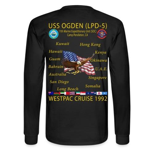 CUSTOM - USS OGDEN LPD-5 LONG SLEEVE - Men's Long Sleeve T-Shirt