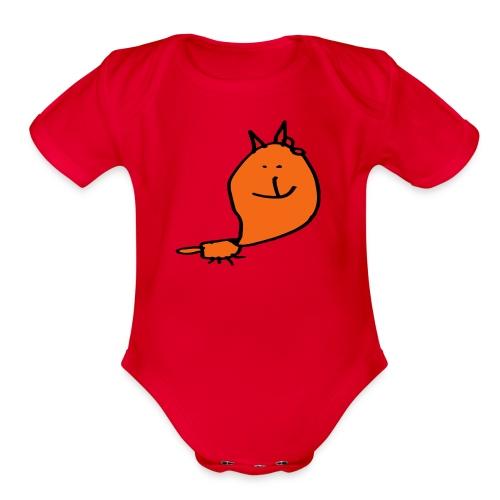 Cute fox bodywear - Organic Short Sleeve Baby Bodysuit