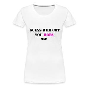 White Guess Who T shirt - Women's Premium T-Shirt