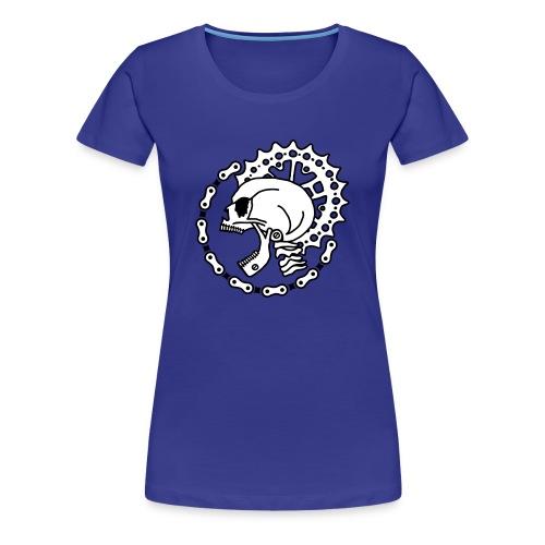 Skull Chain Punk 2c - Women's Premium T-Shirt
