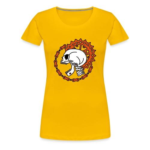 Skull Chain Punk 3c - Women's Premium T-Shirt