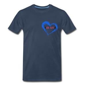 I Heart The Arts Pocket Blue Men's Tee - Men's Premium T-Shirt
