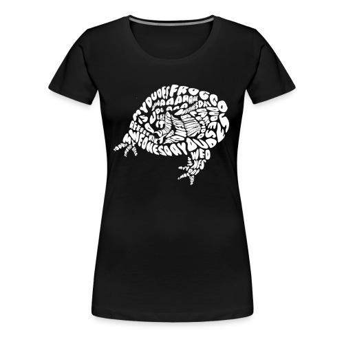 Froggo Style White Female - Women's Premium T-Shirt