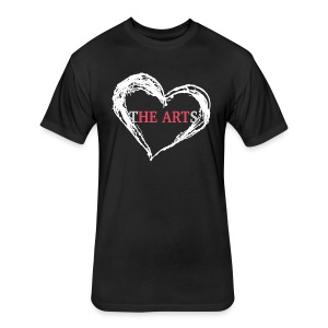 I Heart The Arts Black Unisex Tee - Fitted Cotton/Poly T-Shirt by Next Level