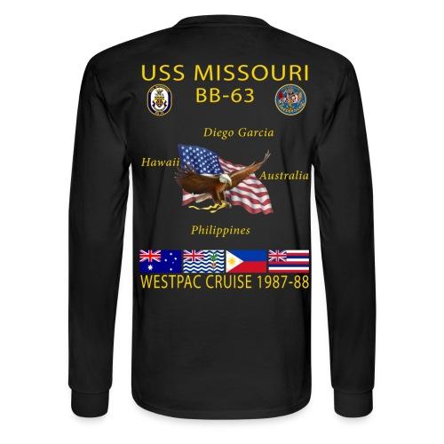 USS MISSOURI 1987-88 CRUISE SHIRT - LONG SLEEVE - Men's Long Sleeve T-Shirt