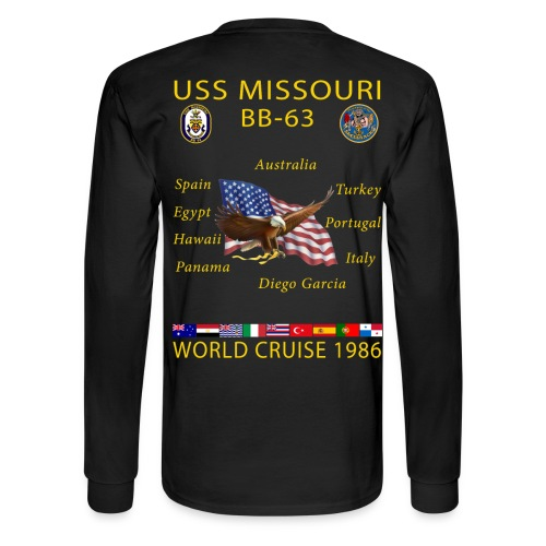 USS MISSOURI 1986 WORLD CRUISE SHIRT - LONG SLEEVE - Men's Long Sleeve T-Shirt