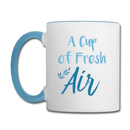 A Cup of Fresh Air - Contrast Coffee Mug
