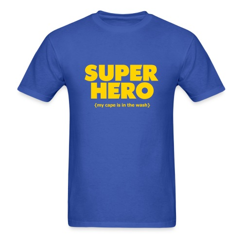 Super Hero - Cape In The Wash - Men's T-Shirt