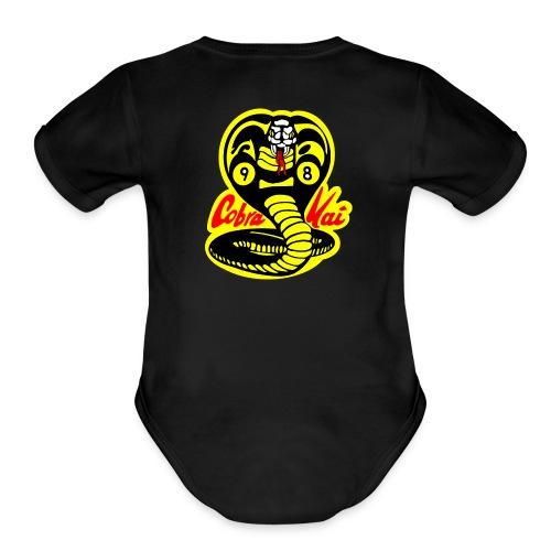 Cobra Kai Baby Short Sleeve One Piece - Organic Short Sleeve Baby Bodysuit