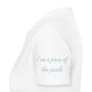 I AM A PIECE OF THE PUZZLE Portion of sales donated to The autism Society - Women's Premium T-Shirt