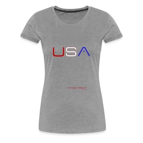LADIES KNEW U.S.A. - Women's Premium T-Shirt
