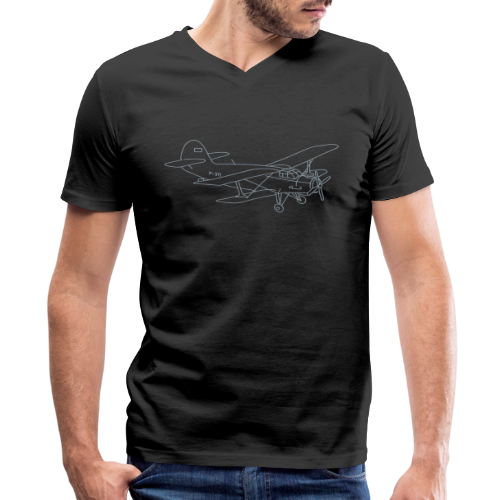 Biplane - Men's V-Neck T-Shirt by Canvas
