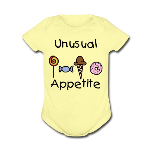UA Sweet Tooth Infant One Piece - Organic Short Sleeve Baby Bodysuit