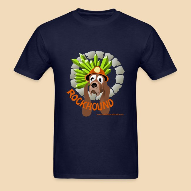 Rockhound mens navy blue T shirt