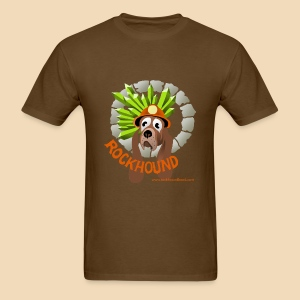 Rockhound mens brown T shirt - Men's T-Shirt